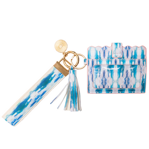 Laura Park Designs | Flower Child Teal Wristlet Wallet
