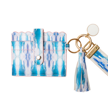 Load image into Gallery viewer, Laura Park Designs | Flower Child Teal Wristlet Wallet