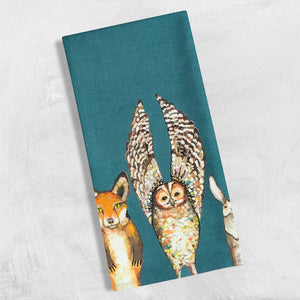 GreenBox Art | Forest Animals Tea Towel