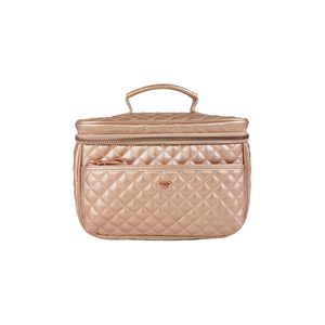 PurseN | Getaway Classic Train Case - Copper Quilted