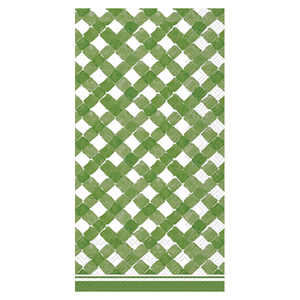 Green Gingham Guest Towels