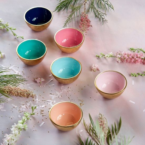 Gold Metal Bowl | Assorted Colors