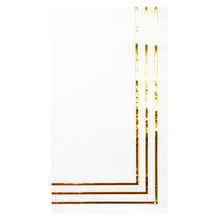 Load image into Gallery viewer, Classic Gold Foil Guest Towels