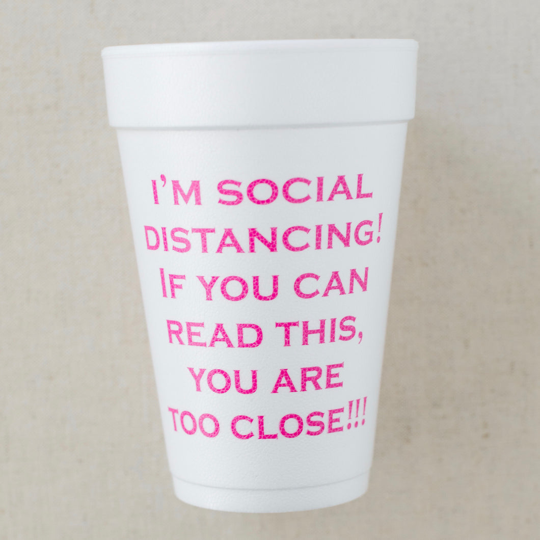 Social Distancing Styrofoam Cups