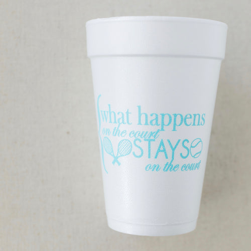 What Happens on the Court Styrofoam Cups