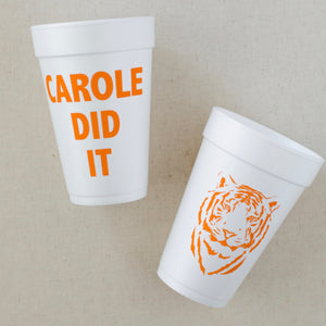 Tiger King Styrofoam Cups