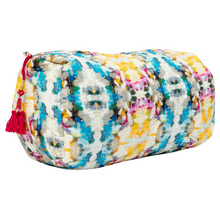 Load image into Gallery viewer, Laura Park Designs | Indigo Girl Blue Quilted Cosmetic Bag
