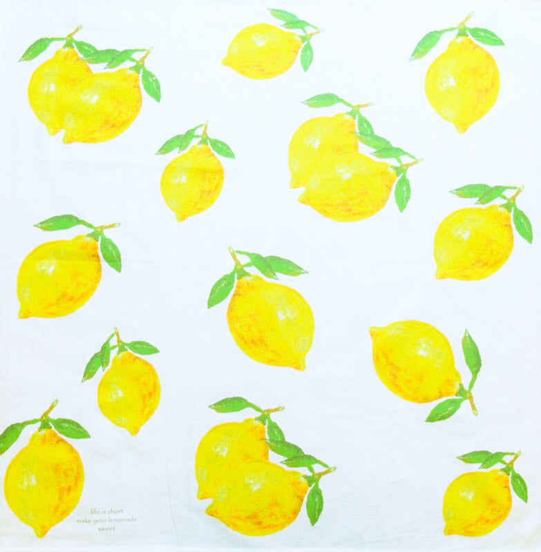 Large Square Lemon Kitchen Towel
