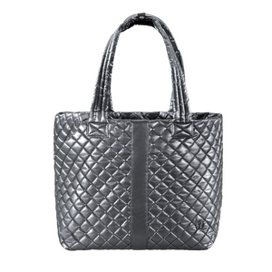 The Oliver Thomas | Wingwoman Large Tote - Gunmetal