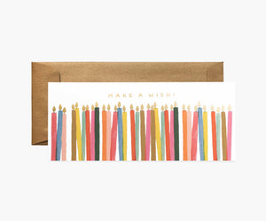 Rifle Paper Co. | Make a Wish Candles Birthday Card
