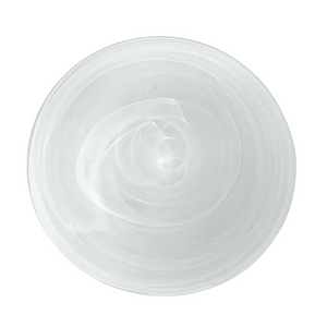Medium Polished Alabaster Plate | White