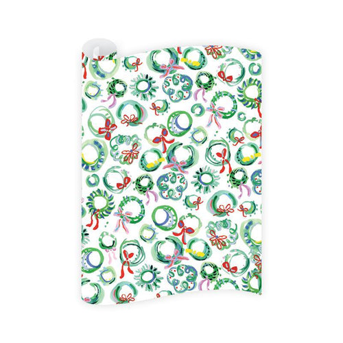 Dixie Design / Dogwood Hill | Merry Wreaths Wrapping Paper Roll