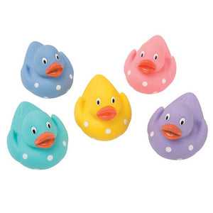 Mini Polka Dot Rubber Duckies