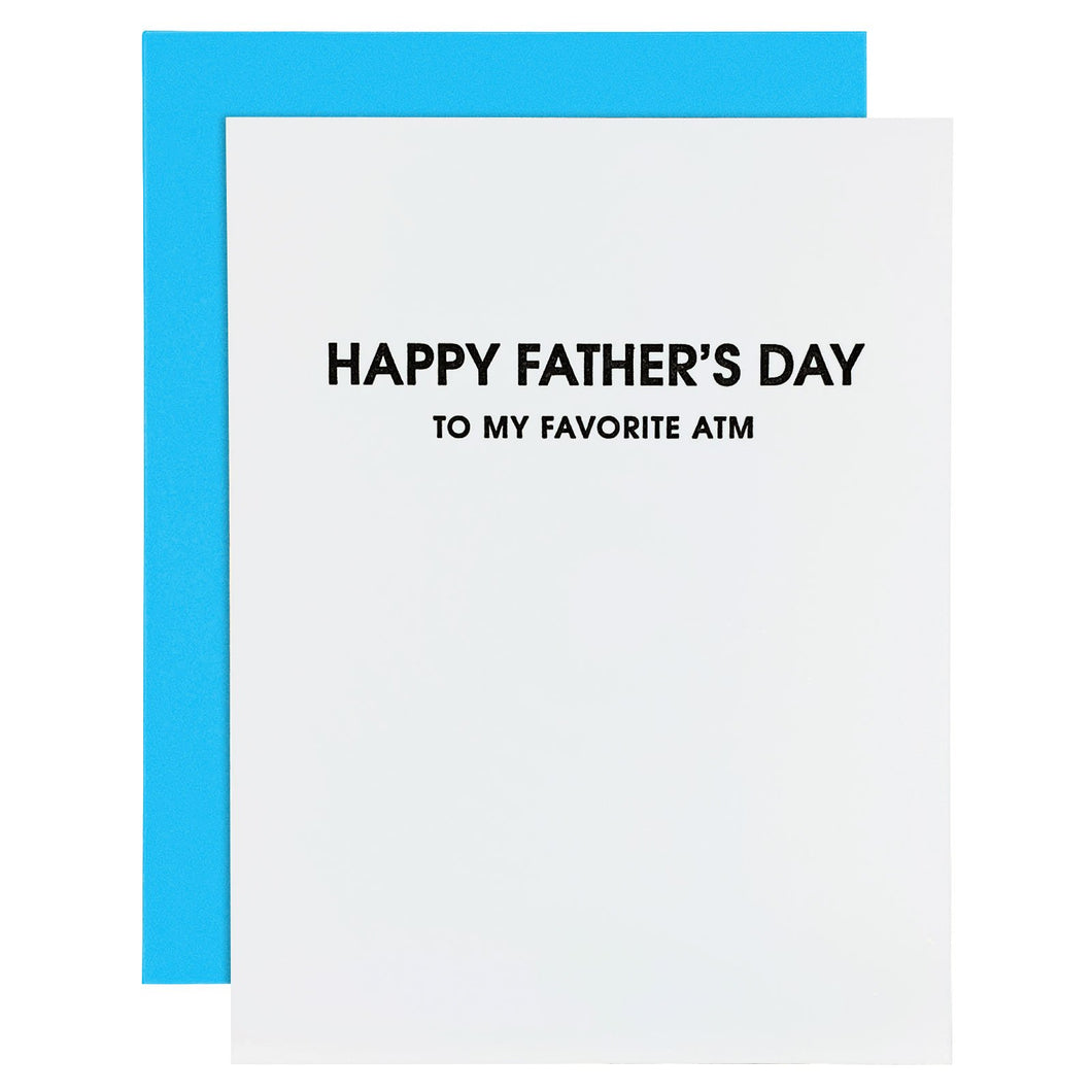 Happy Father's Day - My Favorite ATM Letterpress Card