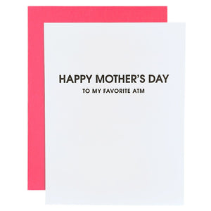 Happy Mother's Day - My Favorite ATM Letterpress Card