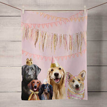 Load image into Gallery viewer, GreenBox Art | Best Friends - Party Pups Tea Towel