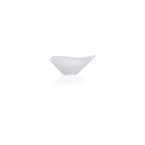 Polished Alabaster Tasting Dish | White