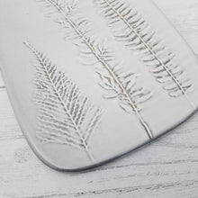 Load image into Gallery viewer, Porcelain Serving Board with Frond Impressions