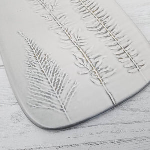 Porcelain Serving Board with Frond Impressions