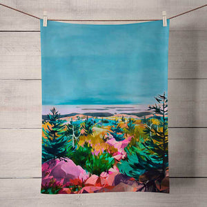 GreenBox Art | Press Pause Tea Towel
