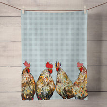Load image into Gallery viewer, GreenBox Art | Roosters Tea Towel