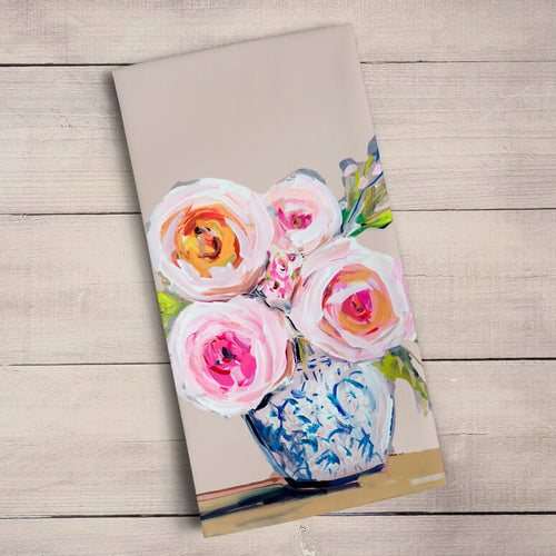 GreenBox Art | Roses Du Jour Tea Towel