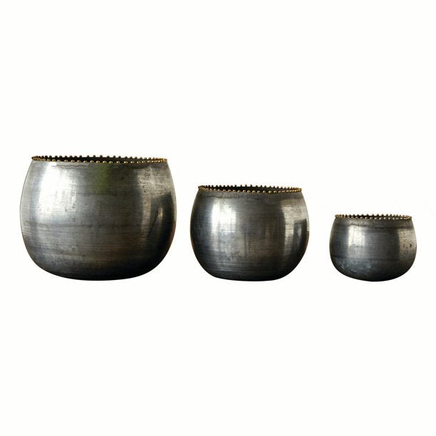 Round Metal Planters | Assorted Sizes