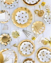 Load image into Gallery viewer, Wavy Gold Dinner Plate