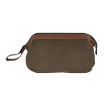 Load image into Gallery viewer, Brown Faux Suede Traditional Dopp Kit