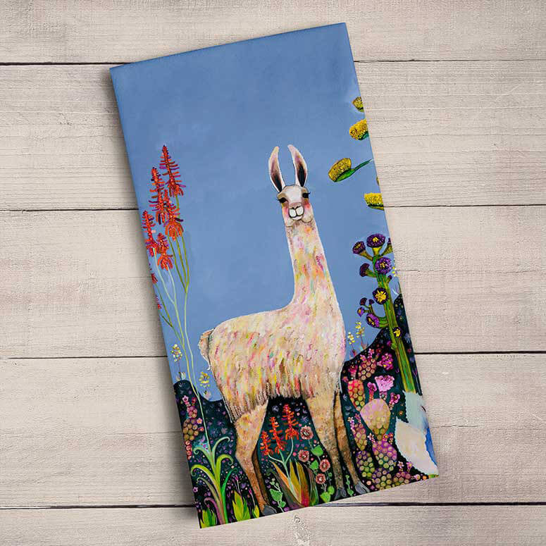 GreenBox Art | Tall Girl Tea Towel