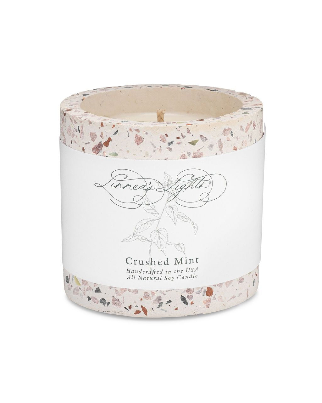Terrazzo Summer Garden Candle | Crushed Mint