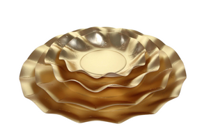 Wavy Gold Dinner Plate