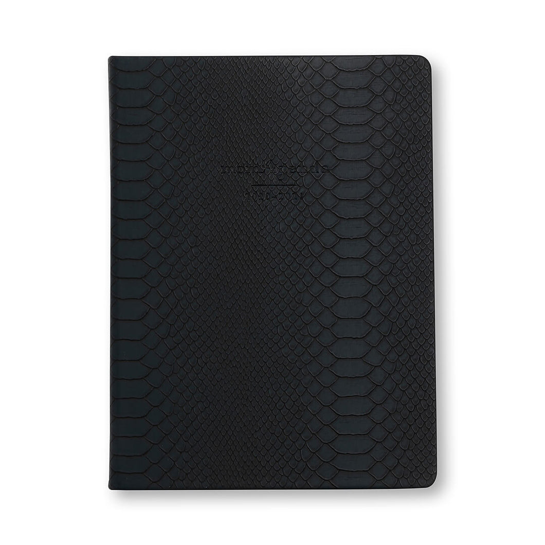 momAgenda Desktop Planner | Midnight Blue Crocodile