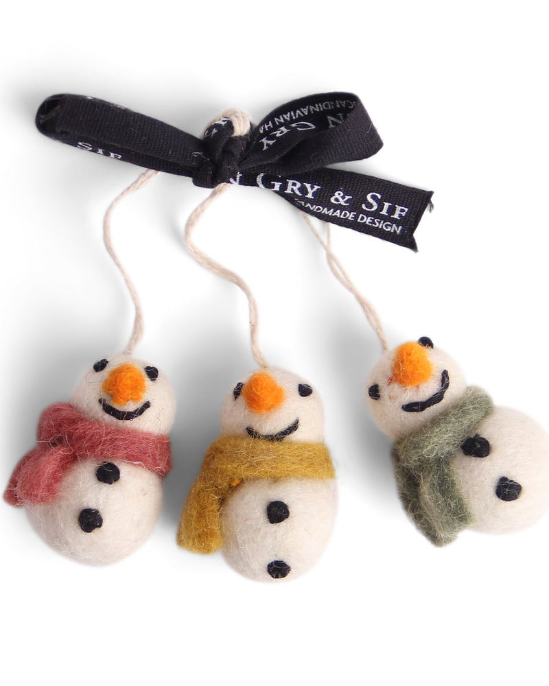 Set di 3 piccoli snowmen