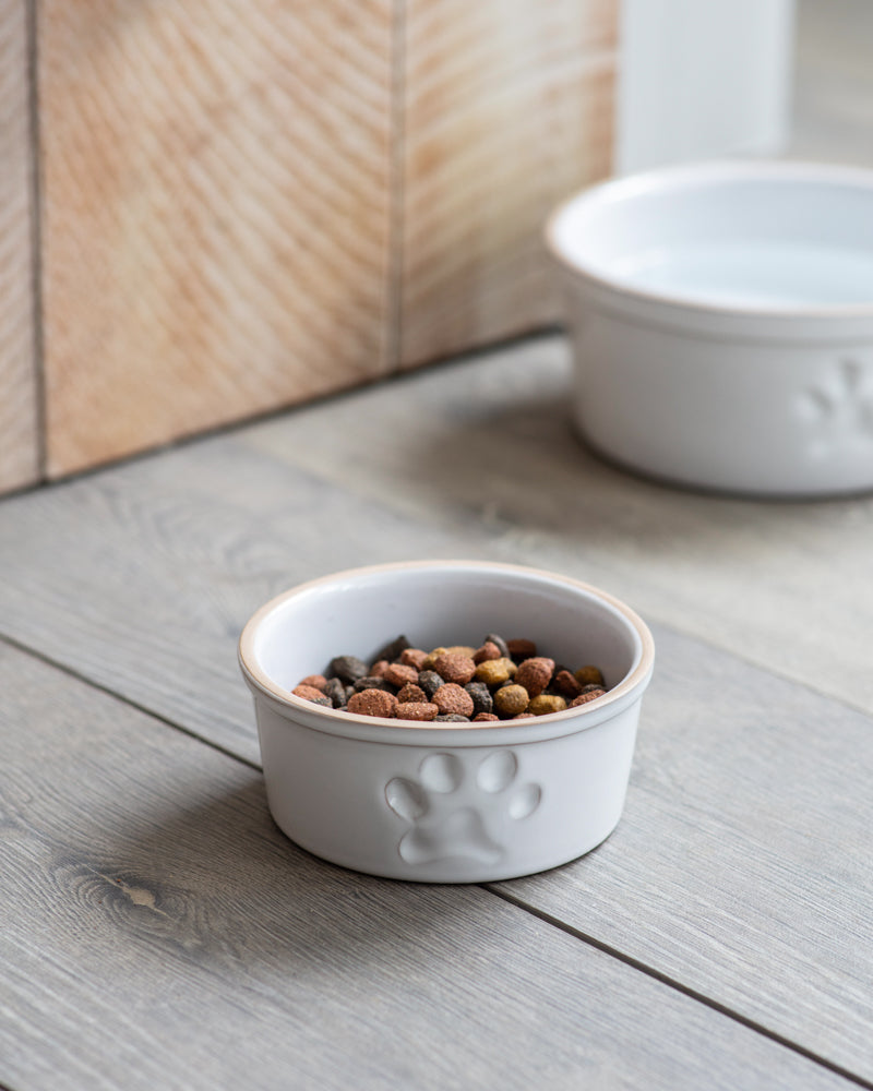 Pet Bowl, Small with Paw Print