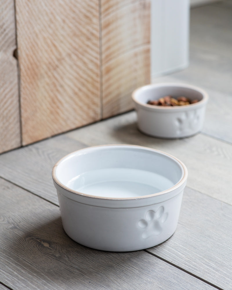 Pet Bowl, Large with Paw Print