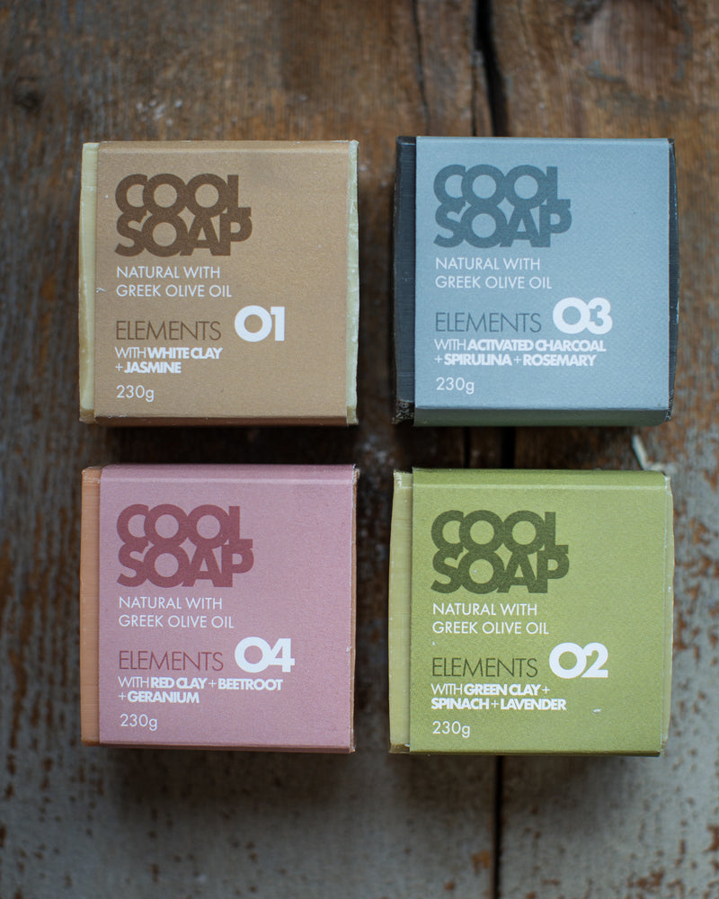 Cool soap - Box assortito di 4x230gr - fragranze diverse