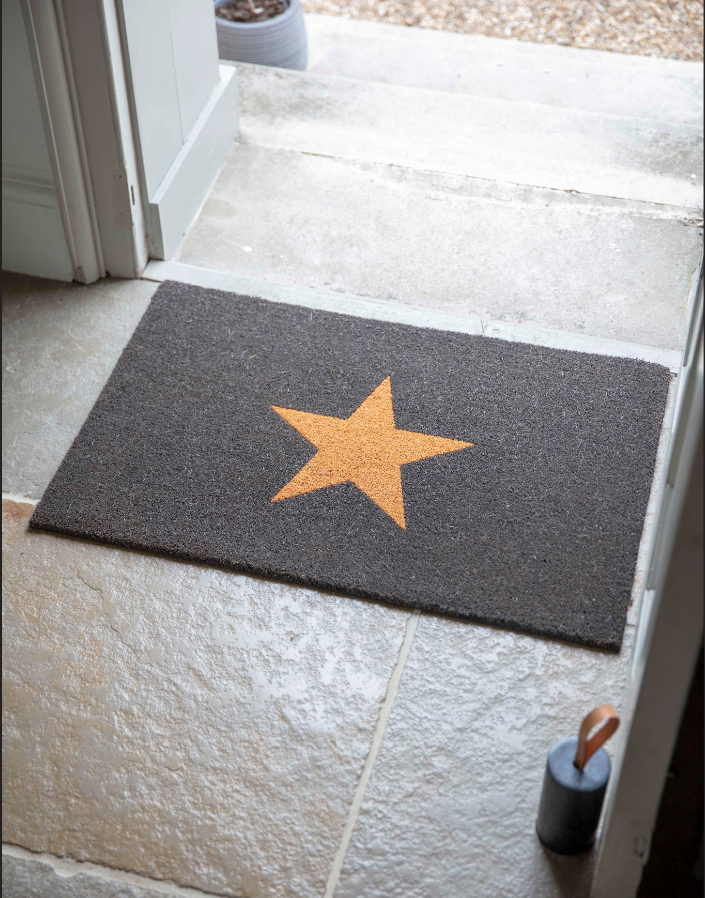 Star Doormat, Large in Charcoal- Coi