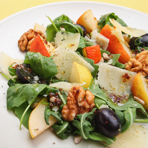 Grape-Pear-Nut Salad with Crostini