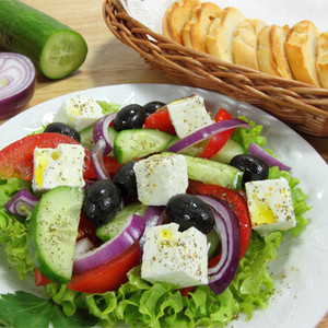 Greek Goat Cheese and Olive Salad
