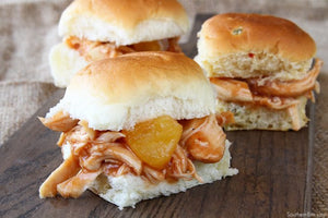 Crock Pot Hawaiian Chicken Sliders