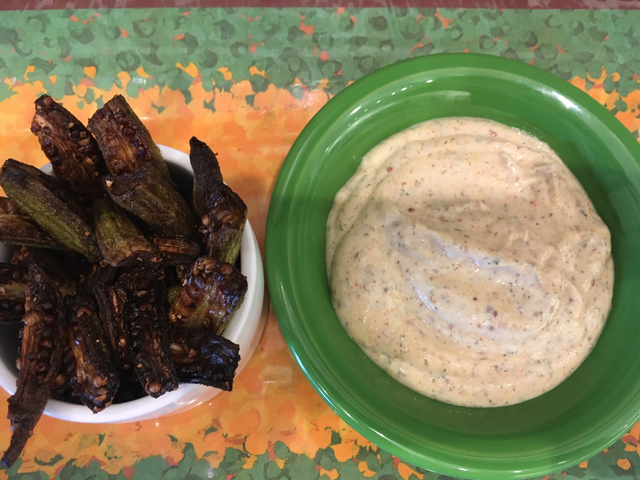 Crispy Okra Fries with Creole Mustard Aioli