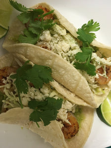 Spicy Shrimp Tacos with Cilantro Lime Slaw