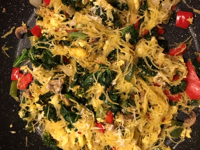 Spaghetti Squash with Kale and Veggies