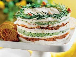 Three Layer Tomato Cheese Torte