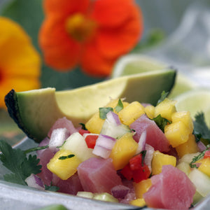 Ginger and Lemon Tuna Ceviche