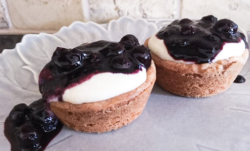 Blueberry Balsamic and Ricotta Tartlets