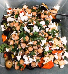 Kat's Roasted Veggie and Chickpea Salad