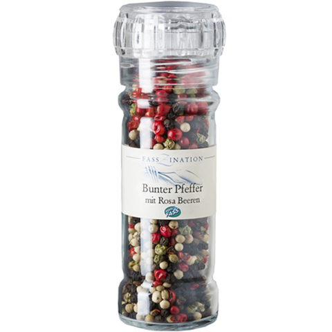 Colorful Peppercorns with Pink Berries