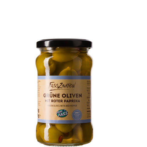 Green Olives with Red Pepper